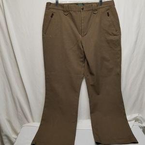Lauren sz 16 Lite brown cotton/spandex pants